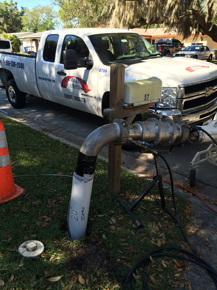 Sewer Line Repair With Perma-Liner